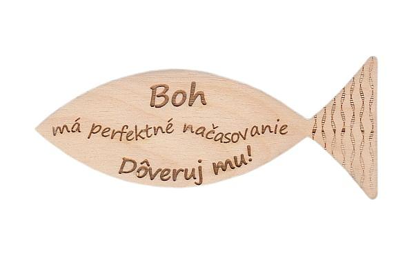 Magnetka: drevená rybka - Boh má perfektné načasovanie... (172)