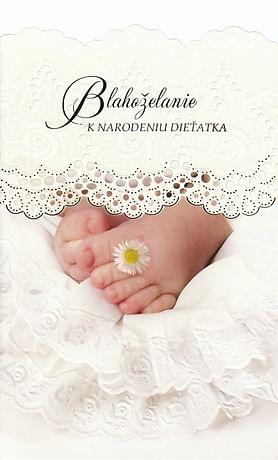 Pozdrav: Blahoželanie k narodeniu dieťatka - s textom (STIVA_B 14-044)