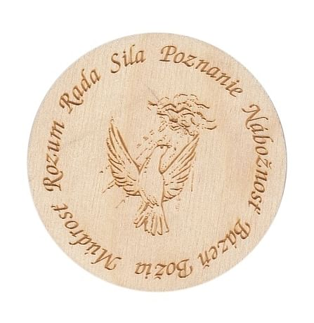 Magnetka: 7 darov Ducha Svätého, drevená (177)
