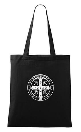 Taška: Benediktínska - bavlnená, čierna