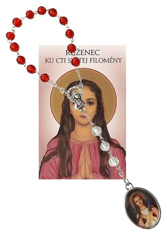 Sada: ruženec sv. Filomény s modlitbou (Z024)