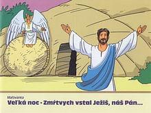 Maľovanka - Veľká noc - Zmŕtvych vstal Ježiš, náš Pán...