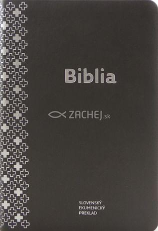 Biblia ekumenická s DT knihami - sivá (2018)
