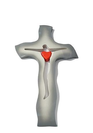 Kríž: drevený, sivý - malý (234c)