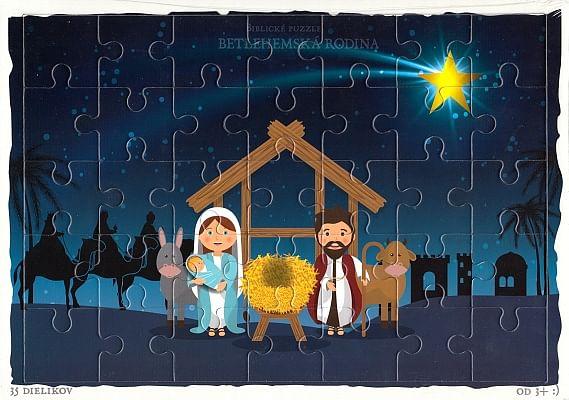 Puzzle: Betlehemská rodina