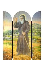 Triptych: Svätý Šarbel - 27,5 cm