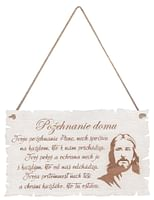 Citát na dreve: Požehnanie domu s obrazom Pána Ježiša (CDZ01)