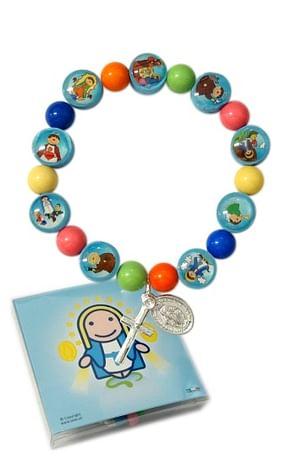 Náramok:  desiatok detský - farebný (800/1181)