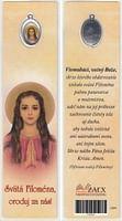 Záložka s medailónom: Svätá Filoména, oroduj za nás! (Z004)
