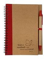 Zápisník s perom: Dám ti múdrosť - červený