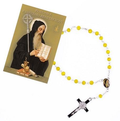 Sada: korunka k sv. Benediktovi  s obrázkom (R966+Z026)