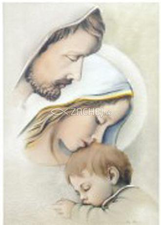 Obraz na dreve: Svätá rodina (30x20) (ODZ064)