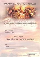 Pamiatka na prvé sväté prijímanie (LV16)