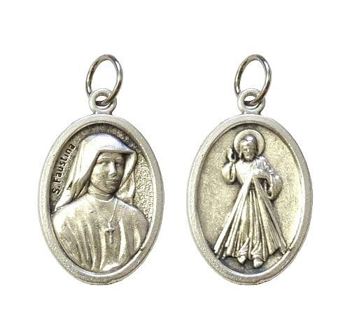 Medailón: sv. Faustína + Božie Milosrdenstvo (G022s)