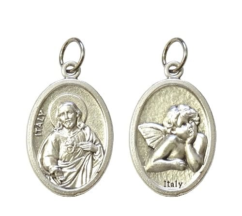 Medailón: Božské Srdce Ježišovo + Anjel (G022s)