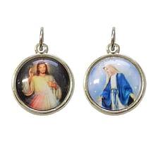 Medailón: Božie milosrdenstvo + Panna Mária Zázračná medaila (G471N)