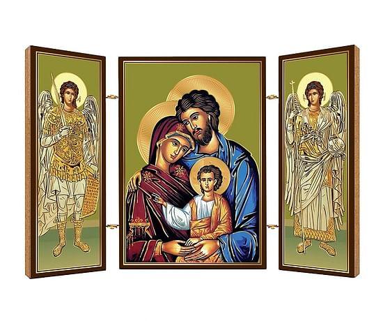 Triptych: Sv. rodina, drevený (N13)