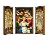 Triptych: Sv.rodina, drevený (N12)