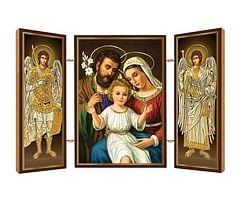 Triptych: Svätá rodina, drevený (N12)