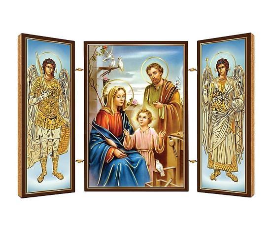 Triptych: Sv. rodina, drevený (N11)
