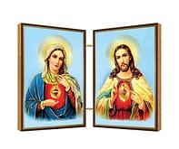Oltárik: Panna Mária + Pán Ježiš, drevený (N10)