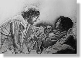 Pozdrav: vianočný s textom - Emanuel Boh s nami