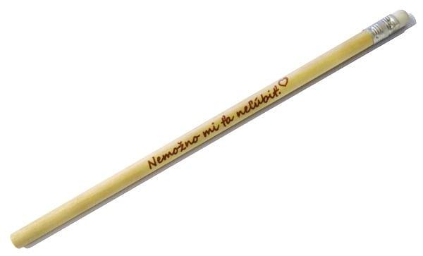 Ceruzka s citátom: Nemožno mi ťa neľúbiť