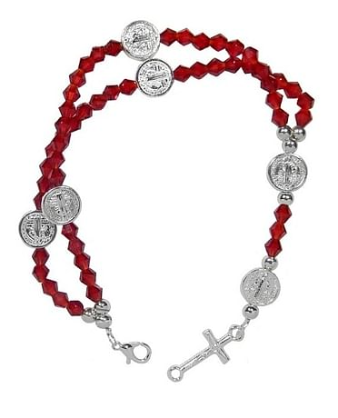 Náramok: ruženec - červený (6758)