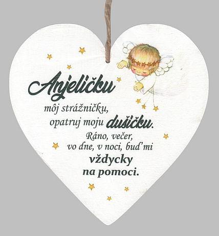 Drevené srdce: Anjelíčku môj strážničku...