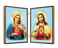 Oltárik: Panna Mária + Pán Ježiš, drevený (N6)