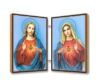 Oltárik: Panna Mária + Pán Ježiš, drevený (N10A)