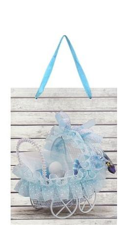 Darčeková taška: kočík - modrá (TOR1227)
