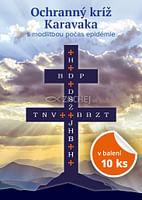 Balenie 10 ks: Ochranný kríž Karavaka s modlitbou počas epidémie