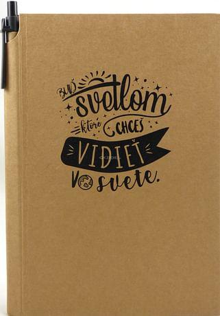 Zápisník s perom: Buď svetlom... (A5)