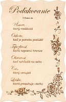 Citát na dreve: Poďakovanie (199)
