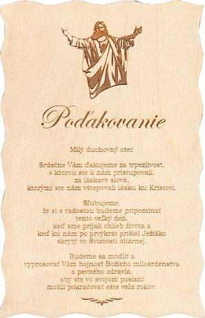 Citát na dreve: Poďakovanie kňazovi (202)