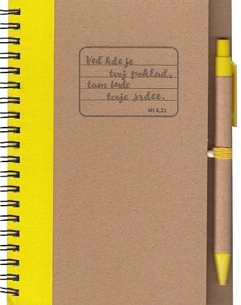 Zápisník s perom: Veď kde je tvoj poklad - žltý