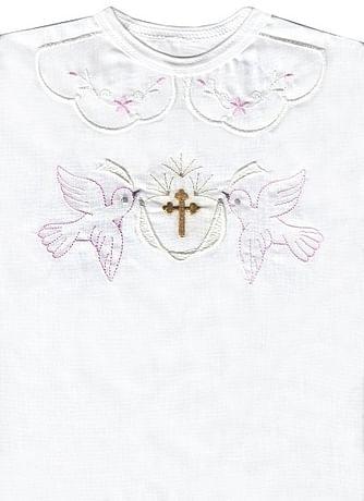 Krstová košieľka - ružová (3074)