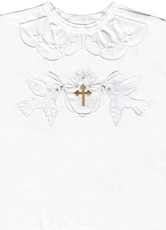 Krstová košieľka - biela (3071)