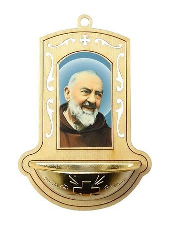 Svätenička: Sv. Páter Pio, drevená (345G)