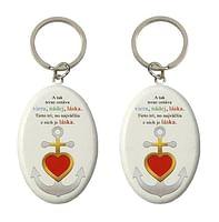 Kľúčenka: Viera, nádej, láska - drevená (KR20-01)