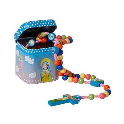 Ruženec s krabičkou: detský - farebný (3900)