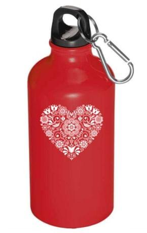 Fľaša na vodu: Folk srdiečko - 500 ml