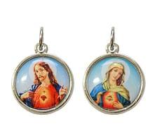 Medailón: Božské Srdce Ježišovo + Nepoškvrnené Srdce Panny Márie (G471N)