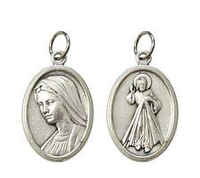 Medailón: Panna Mária Medžugorská + Božie Milosrdenstvo (G022s)