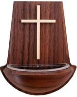 Svätenička: kríž, drevená - tmavá (39/13)