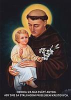 Obrázok: Svätý Anton Paduánsky (A6)
