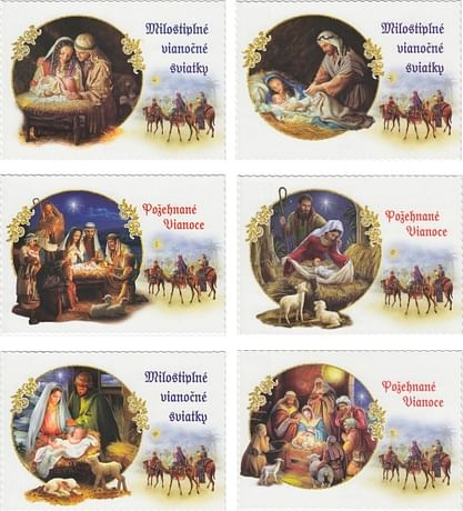 Pohľadnica: vianočná (STIVA séria 9129)