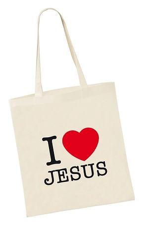 Taška: I love JESUS, bavlnená