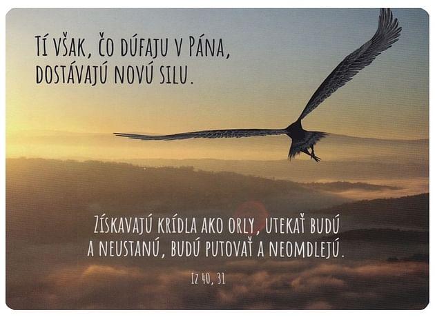 Pohľadnica: Tí však, čo dúfaju v Pána...